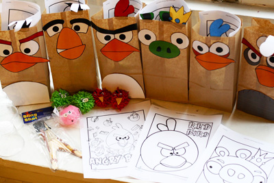 Angry Birds goodie bags by More from the Mohrs