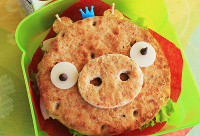 Angry Birds sandwich by Hawaii's Bento Box Cookbook