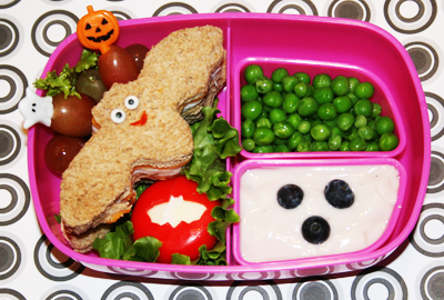 Halloween bat bento lunch by Bento-logy