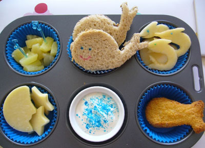 Baby beluga muffin tin lunch by Sugary Flower
