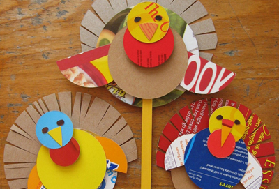 Thanksgiving cereal box turkeys by Plum Pudding