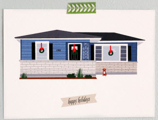 House holiday card
