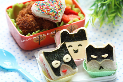 Batman characters bento box lunch by Bento Monsters