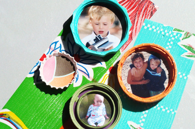 Christmas homemade magnets by I Love to Create