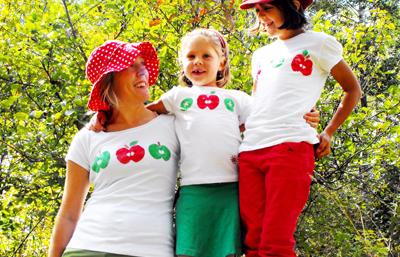 Christmas printed tees by Twig and Toadstool