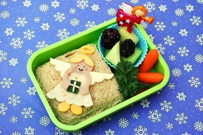 Christmas angel bento box by Crouching Mother, Hidden Toddler