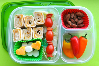 Christmas lights bento box by Bent On Better Lunches