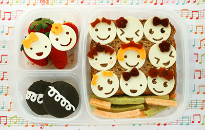 """Eleven pipers piping"" Christmas bento box lunch by Another Lunch"