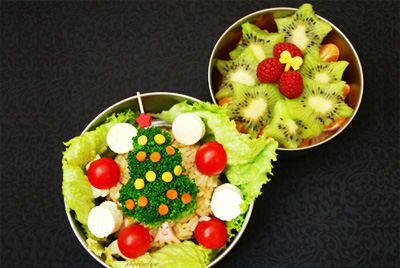 Christmas tree bento by Happy Little Bento