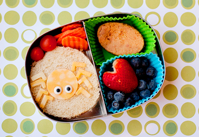 Halloween spider bento box lunch by Bento Mama