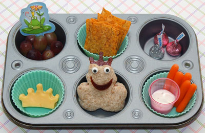 Frog prince muffin tin lunch by Cookie Cutter Lunch