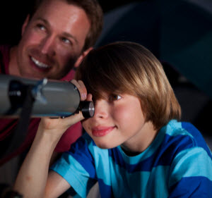 Star gazing with kids