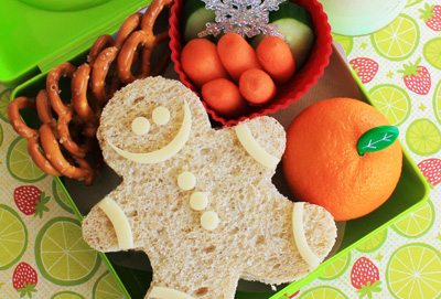 Christmas gingerbread sandwich by Hawaii's Bento Box Cookbook