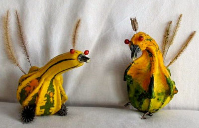 Thanksgiving gourd birds by Maya*Made