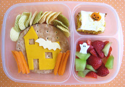 Halloween haunted house bento box lunch by Bento Lunch