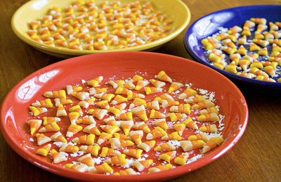 Homemade candy corn by Sugar Crafter