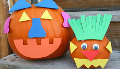 Mix-and-match Halloween pumpkins by Make and Takes
