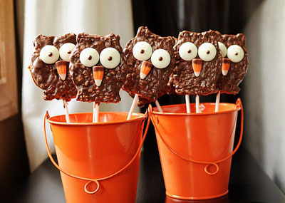 Halloween owl pops by Meet the Dubiens