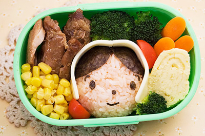 Thanksgiving pilgrim bento box by Adventures in Bentomaking