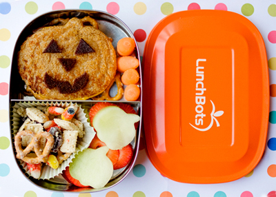 Pumpkin Halloween bento box lunch by Bento Mama