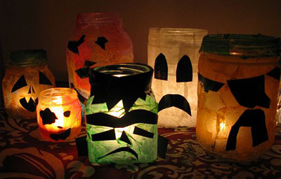 Halloween Creature Votive Candles by Make and Takes