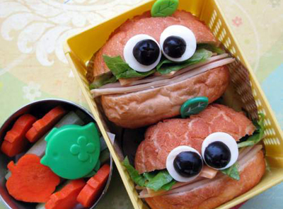 Halloween pumpkin bento box lunch by Hawaii's Bento Box Cookbook