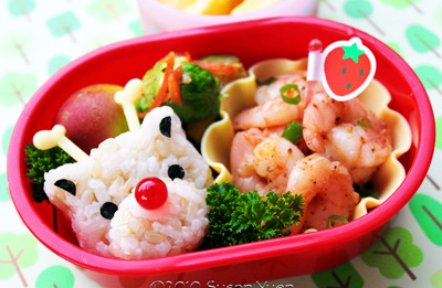 Christmas Rudolph bento box lunch by Hawaii's Bento Box Cookbook