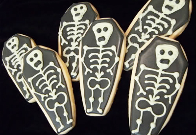 Halloween coffin cookies by Bake at 350