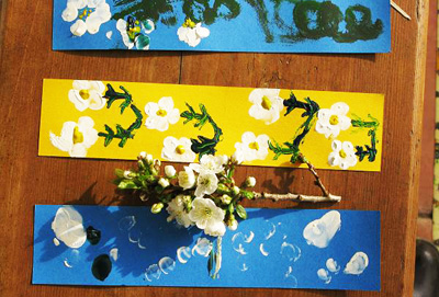 Homemade blossom bookmarks by Time to Craft