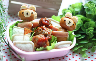 Teddy bear bento box lunch by Bento Monsters
