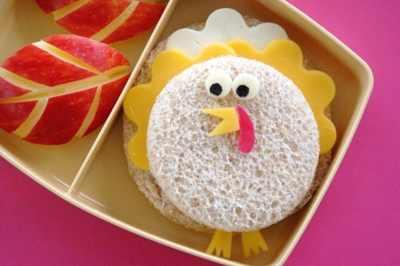 Thanksgiving turkey lunch idea by Cute Food for Kids