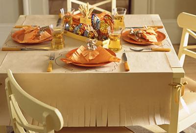 Butcher Paper Thanksgiving Table By Martha Stewart