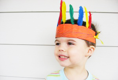 Native American headdress by No Time for Flash Cards