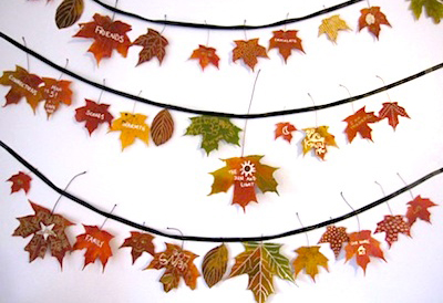 Thanksgiving leaf garland by The Artful Parent