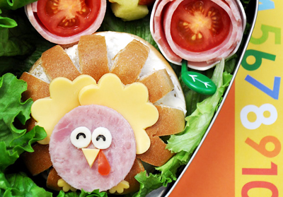 Thanksgiving turkey sandwich by Lian Mama Obento