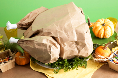 Paper bag Thanksgiving turkey by One Charming Party
