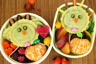 Thanksgiving turkey bento box by Happy Little Bento
