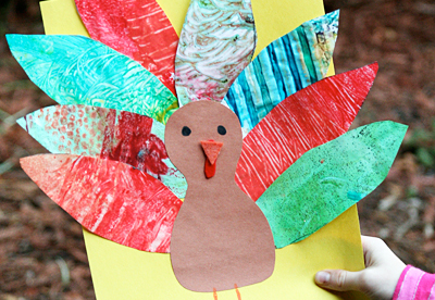 Thanksgiving art turkeys by Let's Explore