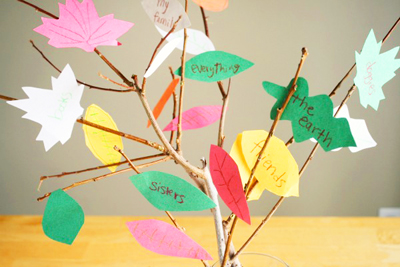 Thanksgiving thankful tree by Make and Takes