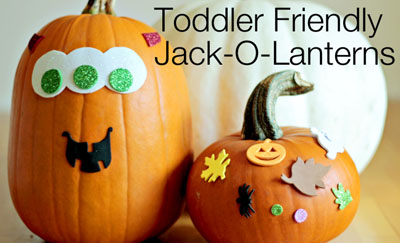 Mess-free pumpkin decorating for toddlers by Modern Parents, Messy Kids