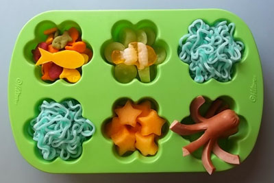 """Under the sea"" muffin tin lunch by Bent On Better Lunches"
