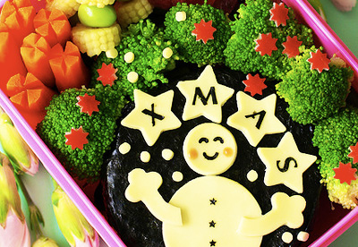 Christmas bento box lunch by Bentolicious