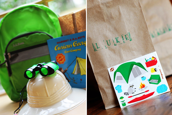 Kids' camping themed birthday party by Hostess With the Mostess