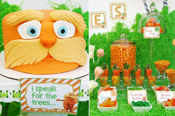 Kids Lorax Birthday Party By Celebrations At Home
