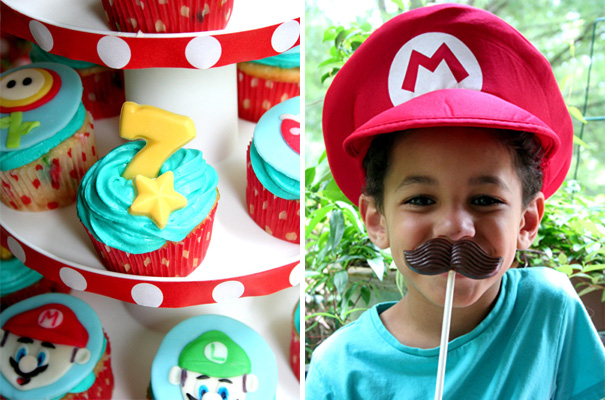 Kids' Super Mario birthday party by Amy's Party Ideas