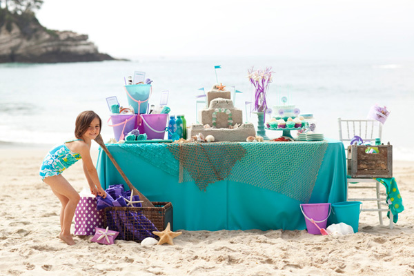 Kids' mermaid birthday party by One Charming Party