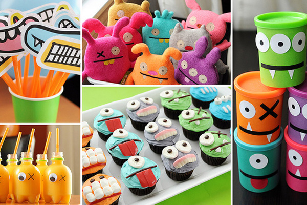 Kids' monster birthday party by Meet the Dubiens
