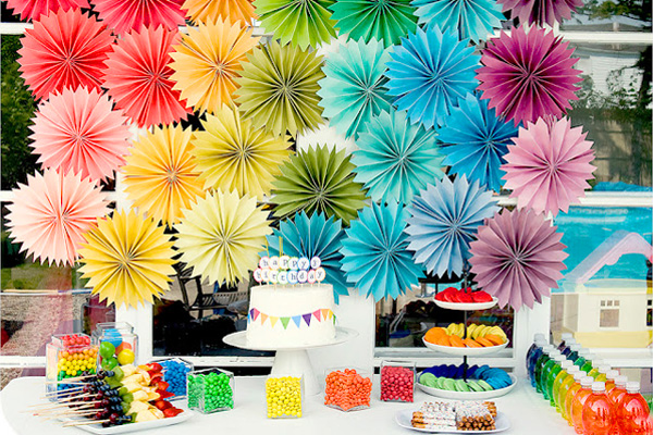 Kids' rainbow birthday party by Kara's Party Ideas