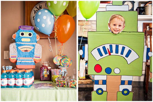 Kids' robot birthday party by Pizzazzerie