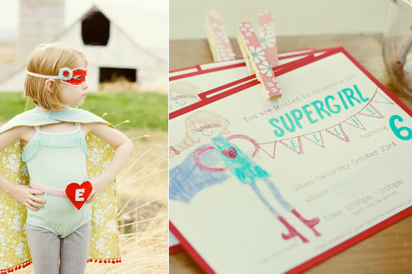 Kids' supergirl birthday party by Tortoise and the Hare
